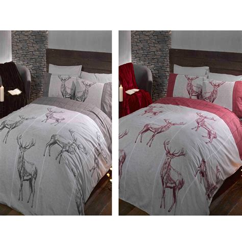 charcoal grey bedding highland stag double duvet cover sets red grey charcoal