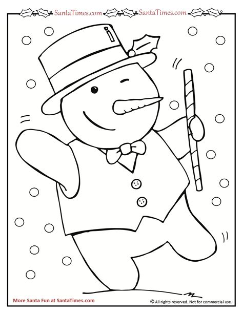 dancing snowman coloring page dancing snowman coloring page