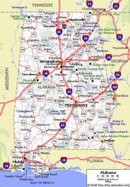 alabama road map highway 80 coast to coast highway