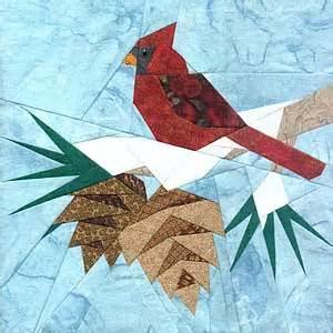 paper panache paper pieced christmas cardinal quilt pattern