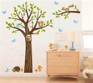 woodland wall stickers pics photos nursery wall stickers woodland animal scene