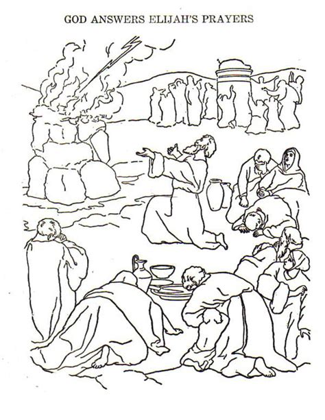 Drawing Prophet Elijah Coloring Pages Drawing Prophet Elijah And The Prophets Of Baal Coloring Page