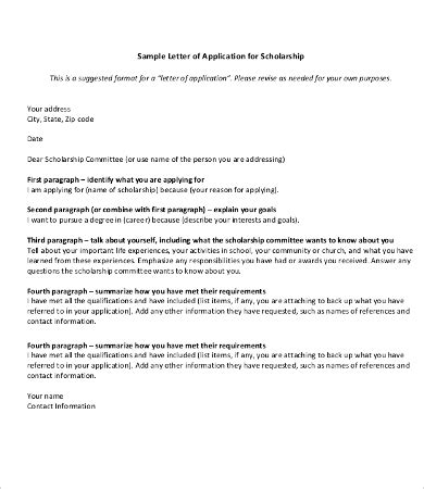exle of formal letter for bursary application 8 scholarship application letter templates pdf doc
