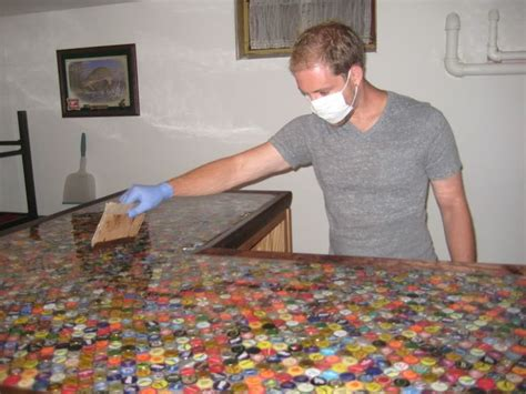 beer cap bar top bottlecap countertop yes please for my at home bar i dont