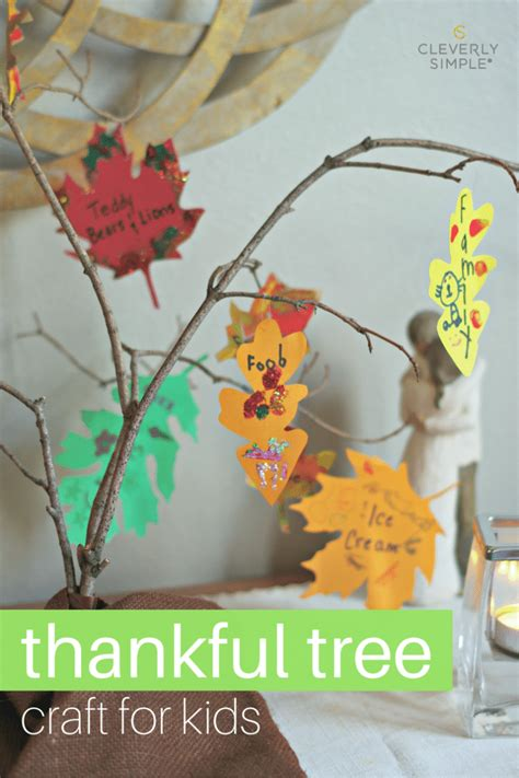 thankful tree craft for thankful tree craft for cleverly simple