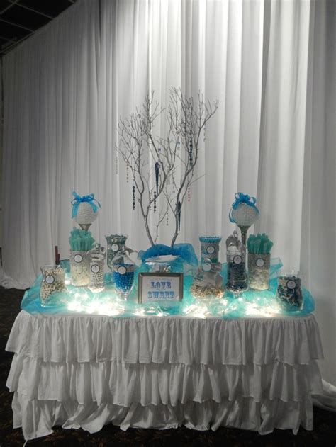 Wedding Candy Buffet by Sugarpalooza. Using tea li