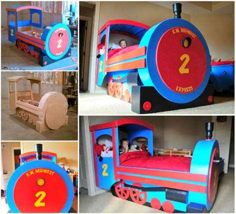 kids train bed diy tractor bunk bed for boys