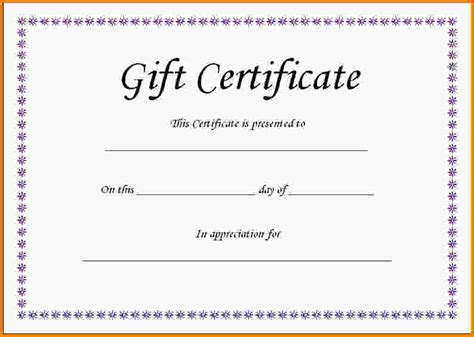 doc gift certificate word template free art business
