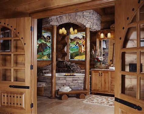 log cabin master bathrooms photos of a smoky mountain log home