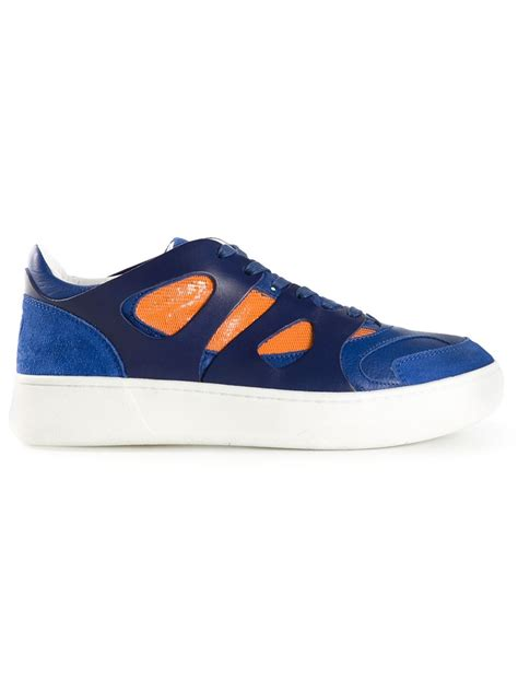 mcqueen mens sneakers mcqueen x move lo sneakers in blue for