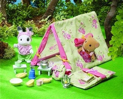 ingrids camping set collectors dream sylvanian families camping set homemade toys