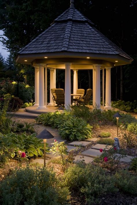 Outdoor Lighting Fixtures For Gazebos 40 Ultimate Garden Lighting Ideas
