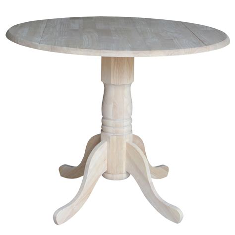 Wood Drop Leaf Table Dining Unfinished Wood Dual Drop Leaf Dining Table International Concepts Dining
