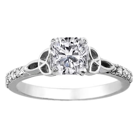 engagement ring cushion celtic knot engagement