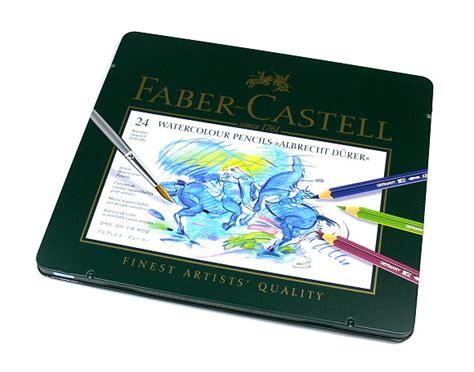 24 Watercolour Pencils Faber Castell faber castell pencils watercolour pencils water soluble tin box 24 117524 pb382 ebay