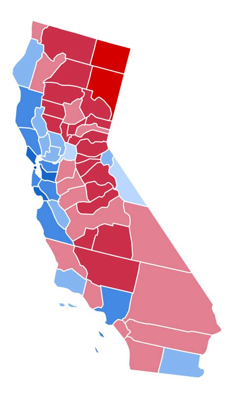 california map election 2016 file california presidential election results by county