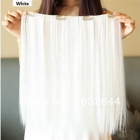 white hair extensions white synthetic extensions weft hair extensions