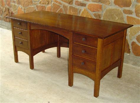 Arts And Crafts Style Desk by Arts And Crafts Style Desk By Tenontim Lumberjocks