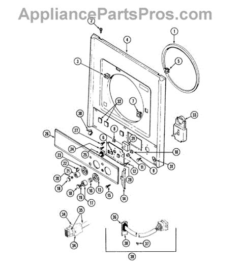 admiral dryer parts diagram parts for admiral lse7800age front panel panel