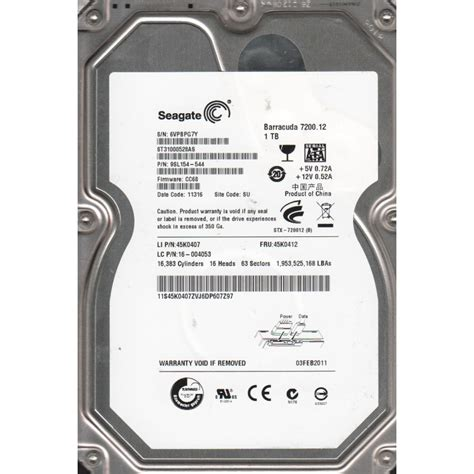 Hardisk Second by Disk Second Seagate Barracuda 7200 Rpm 1 Tb Sata