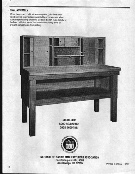 free reloading bench plans wood project workbench plans for reloading