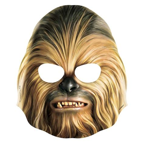 printable chewbacca mask star wars masks star wars party supplies and party favors