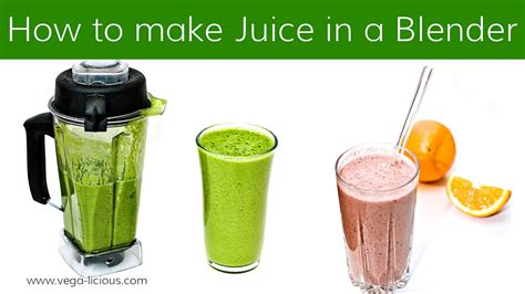 How To Make Detox Juice Without A Juicer by How To Make Juice With A Blender Doovi