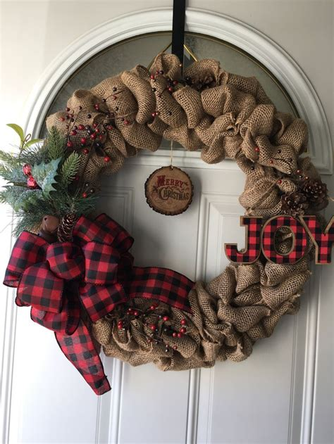 burlap christmas wreaths ideas  pinterest