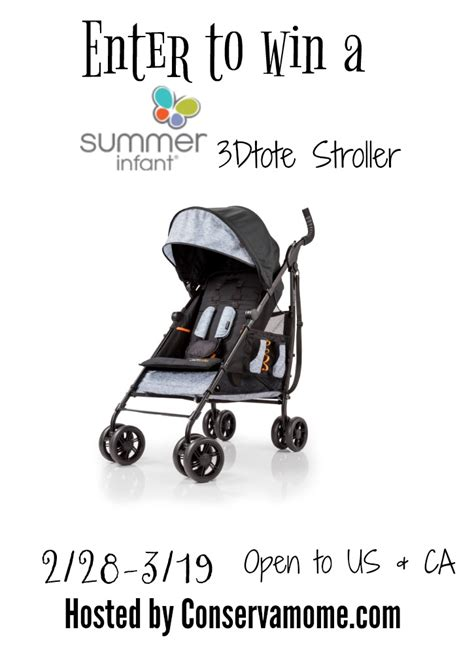Stroller Giveaway 2017 - summer infant 3dtote stroller giveaway 130 value