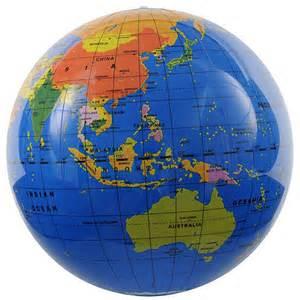 globo le globo terr 225 queo hinchable 30 cm el mundo kinuma
