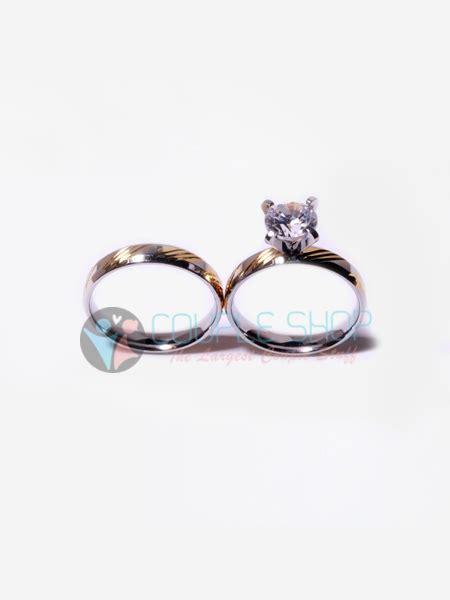 Cincin Pasangan Kawin Gold Hs09 Bahan Titanium Anti Pudar Free Ukir cincin 2023 shop