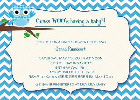 Boy Baby Shower Invitations by Owl Baby Shower Invitations Kustom Kreations