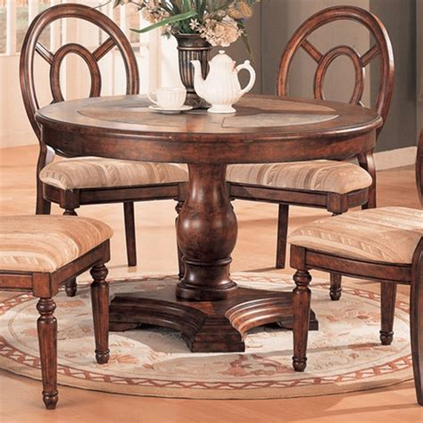 Slate Top Dining Table Set Distressed Top 5 Dining Table Set With Slate Inserts By Coaster 100061