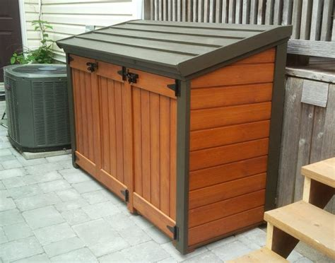 plan trash  shed plans outdoor trash cans patio