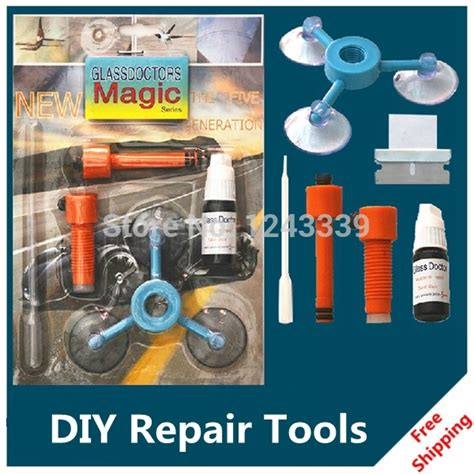 Diy Car Glass Repair Tool Windshield Repair Kit Auto Maintenance Set C diy car automobile windshield repair kit tools auto glass windscreen repair set give door