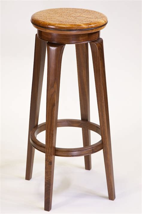10 custom wood sitting stools from our