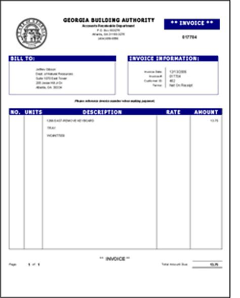 invoice template for services provided billing inquiries building authority