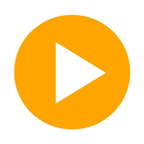 design icon orange youtube play icon clipart clipart suggest