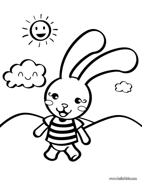 Rabbit Coloring Pages For Preschoolers rabbit coloring pages hellokids