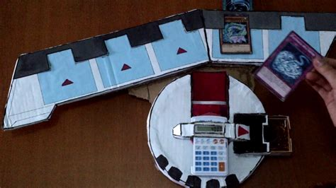 How To Make A Duel Disk Out Of Paper - yu gi oh duel disk