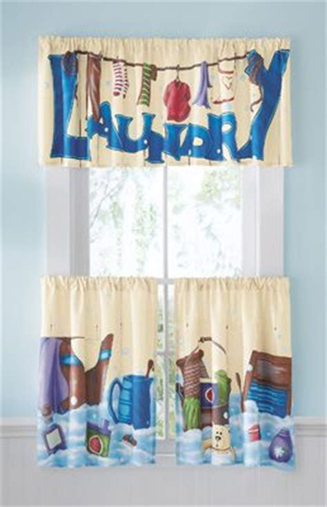 3 Pc Laundry Room Caf 233 Curtain Set Laundry Room Curtains For Sale