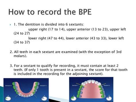 sextant teeth basic periodontal examination