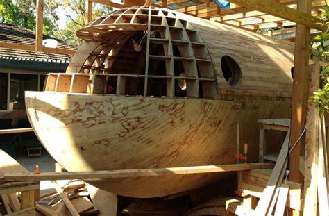 ark my boat is stuck backyard builds man constructing 22 foot tsunami proof