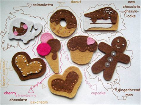 pan de jengibre fieltro dulces y galletas por simplysweetgifts galletas archivos broches de fieltro