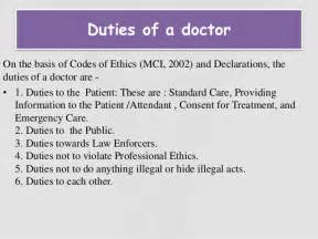 Doctor Duties by Responsibilities Of A Doctor Mfacourses476 Web Fc2