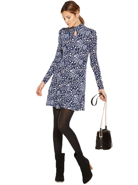 very swing dress v by very shirred neck keyhole swing dress dresslover uk