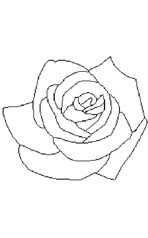 imagenes de rosas sin pintar dibujos de rosas