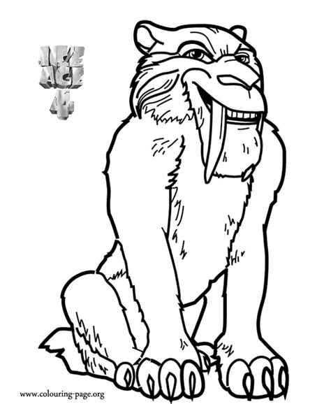 click here for ice age coloring pages kid crafts ice age diego ice age 4 continental drift coloring page