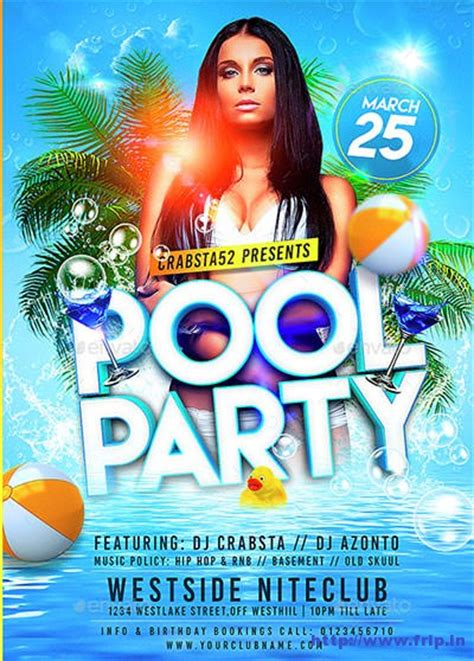 free pool flyer templates 50 best summer pool flyer print templates 2017 frip in