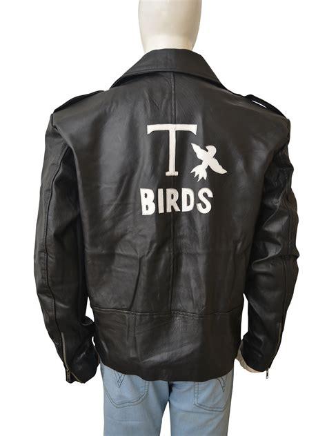 design a jacket logo john travolta grease 1978 danny t bird leather jacket
